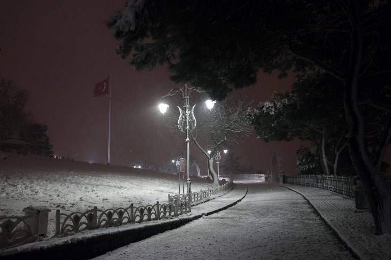 Snowfall in Istanbul