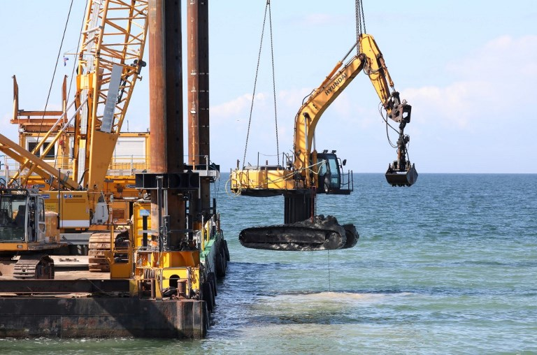 Dredger sunk into Baltic Sea bottom recovered